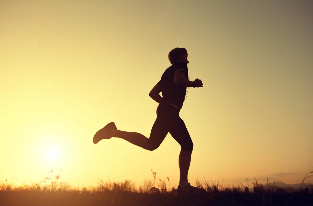 Running man silhouette