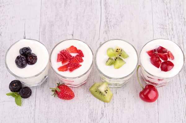 fruits and yogurt