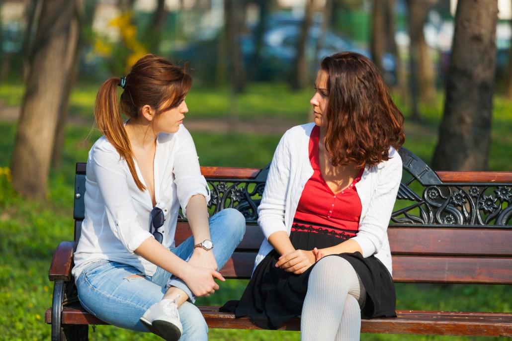 Best friends chatting