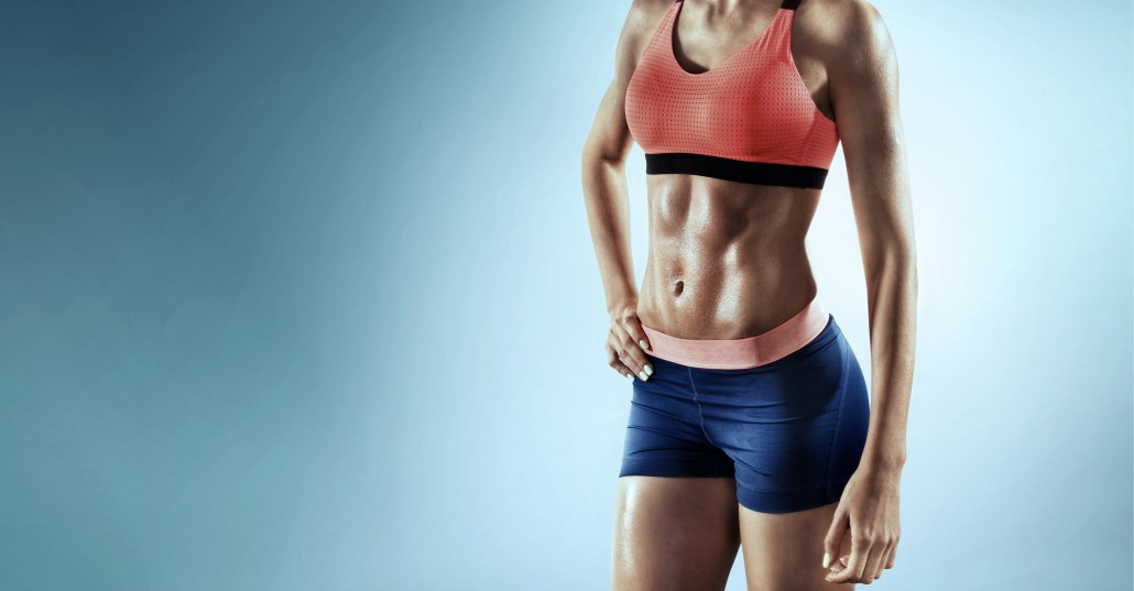 Sport backgrounds. Close up image of fitness female
