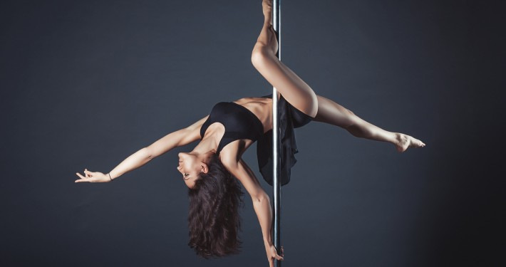Pole dance girl of asian appearаnce