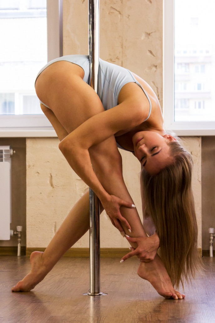 Girl dancing on the pole