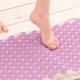 Female feet on acupressure mat. Alternative medicine and home-massage concept. Banner.