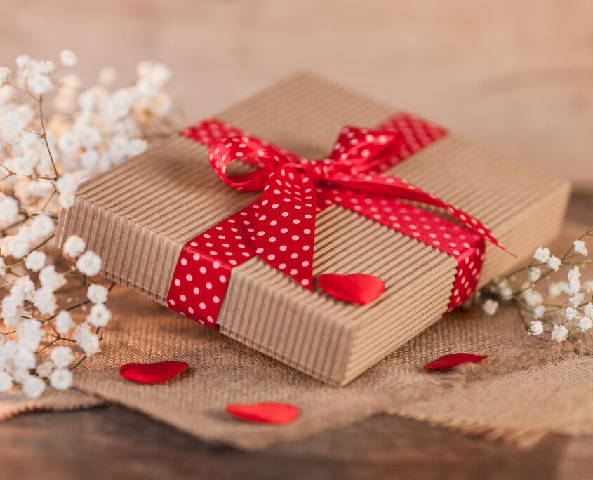 Gift box on valentine's day